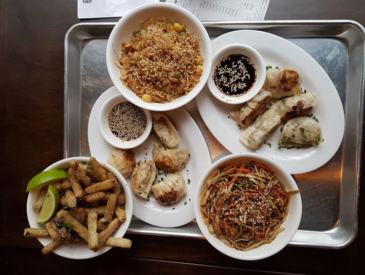 Wu dumplings and beer